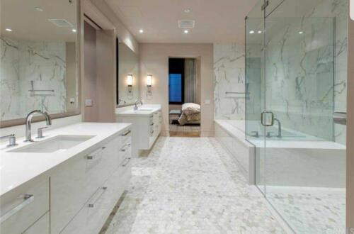 bathroom-plumbing-shower-doors-custom-cabinets-mosaictile-slab-calacatta-quartz-design-concept-to-completion-licensed-contractor